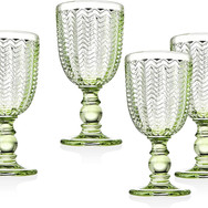 Green Water Goblets