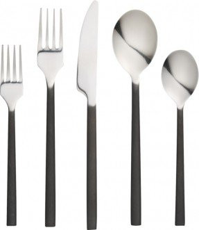 Flatware - black handle and silver