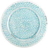 Ocean Mosaic Charger Plate Blue