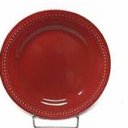 Spice red dinner plate