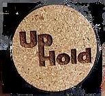 cork laser burned with UpHold logo
