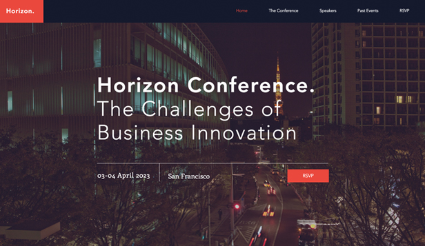 Events website templates – Corporate Conference