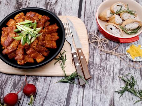 Grilled Spicy Pork Belly  직화삼겹살 매콤한맛