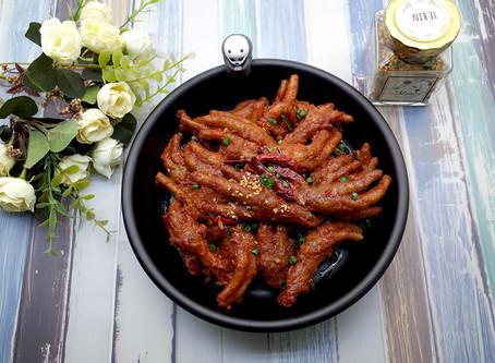 Grilled Chicken feet with bone 직화통뼈닭발