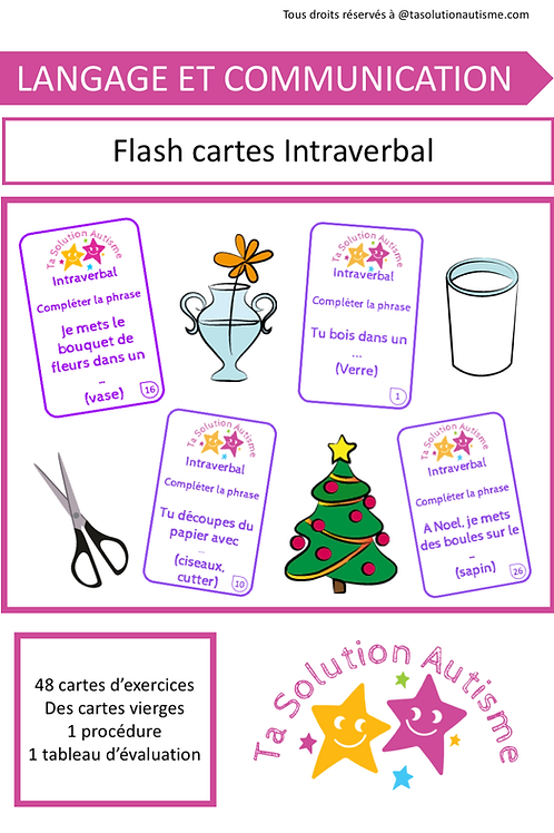 Flash cartes: Intraverbal