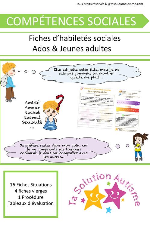Mes fiches d'habiletés sociales Ados & Jeunes Adultes