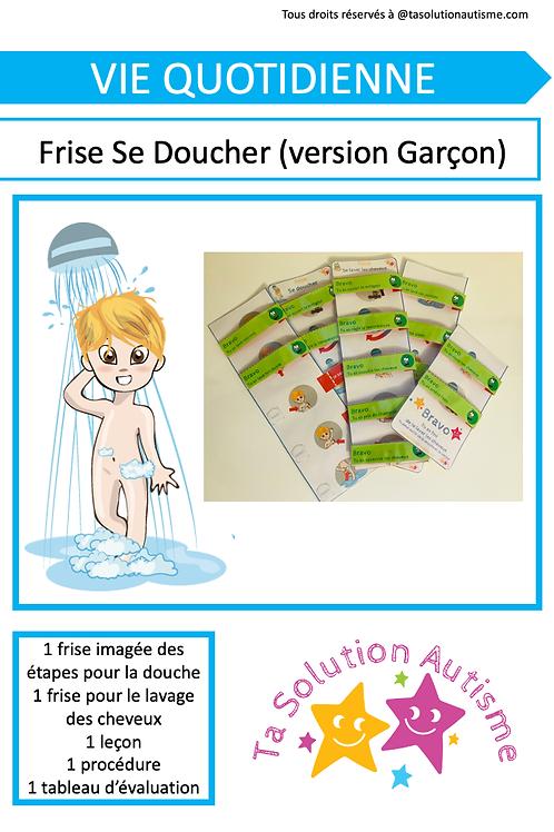 "Frise ""Se doucher"" version Garçon"
