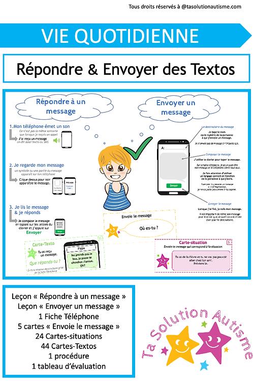 Répondre et Envoyer des Textos