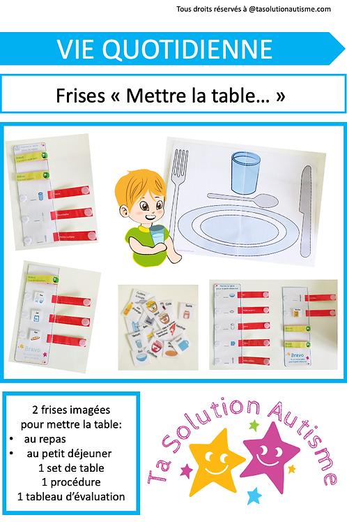 """Frises Mettre la table pour... """"le repas"""" & """"le petit-déjeuner"""""""