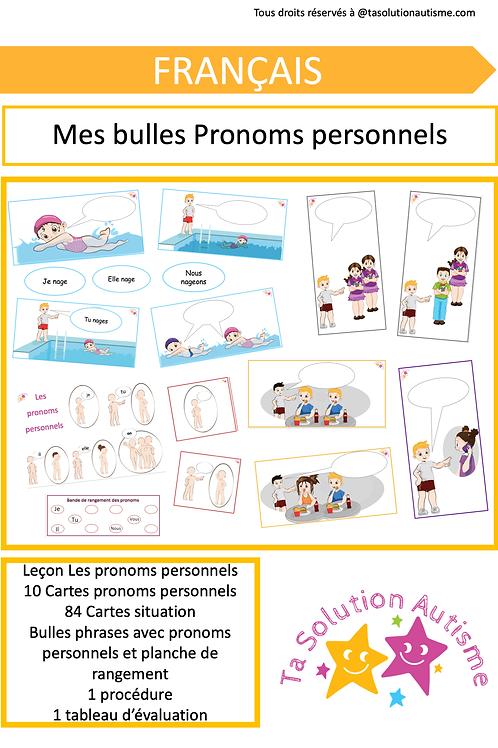 Mes bulles pronoms personnels