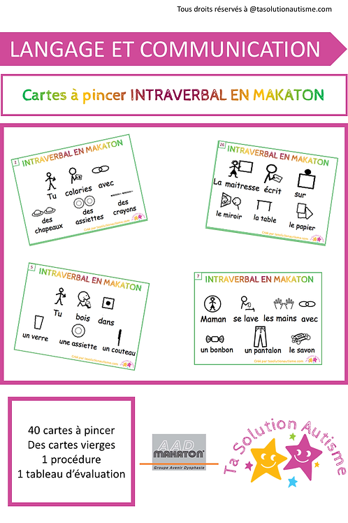 Cartes à Pincer: INTRAVERBAL EN MAKATON