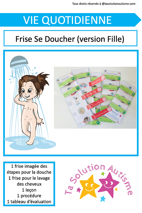 "Frise ""Se doucher"" version Fille"