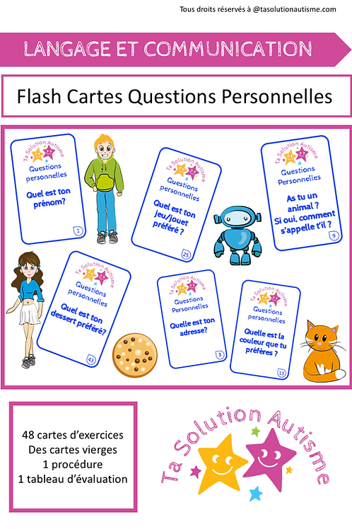 Flash cartes: Questions personnelles