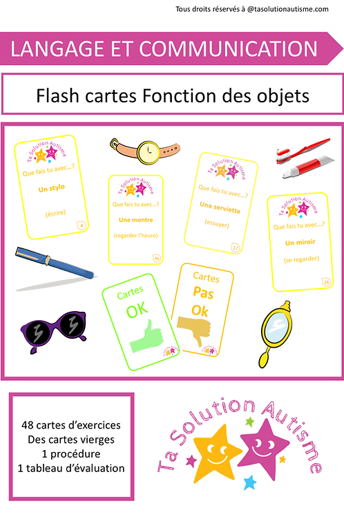 Flash cartes: Fonction des objets