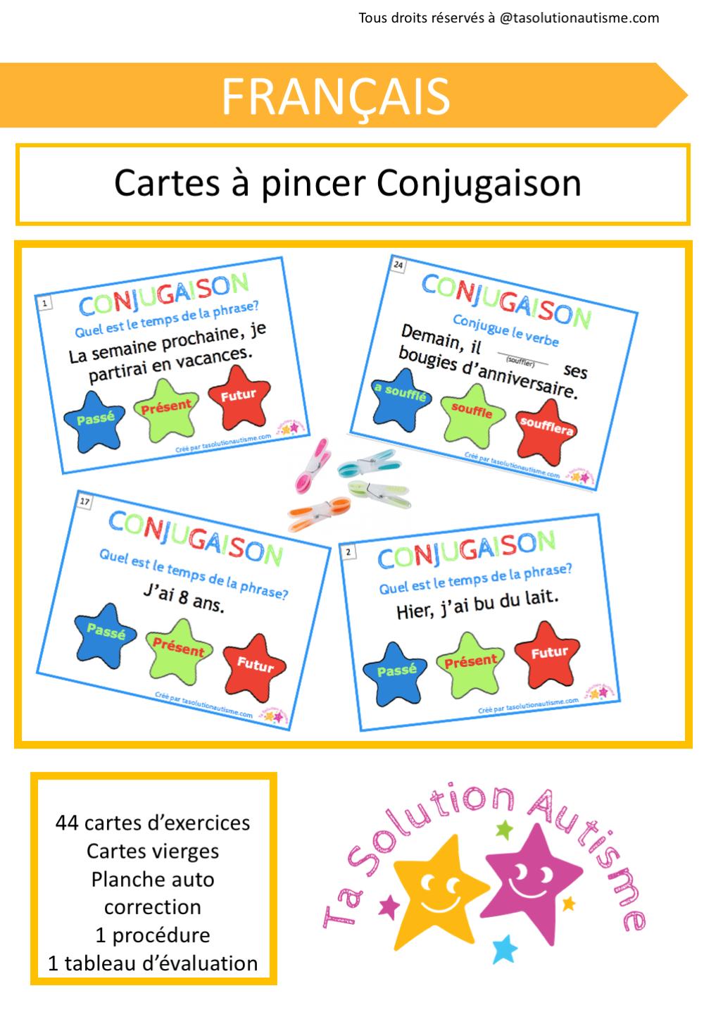Cartes à Pincer Conjugaison