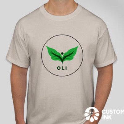 OLI Logo Tee (Dark Biege)