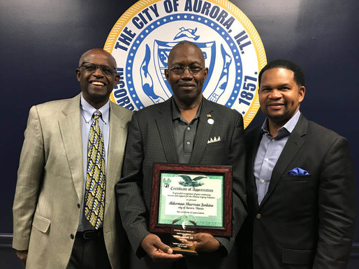 APPRECIATION TO ALDERMAN SHERMAN JENKINS