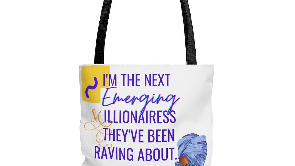Next Emerging Millionairess Tote Bag   Boss Babe Tote  Girl Boss Tote