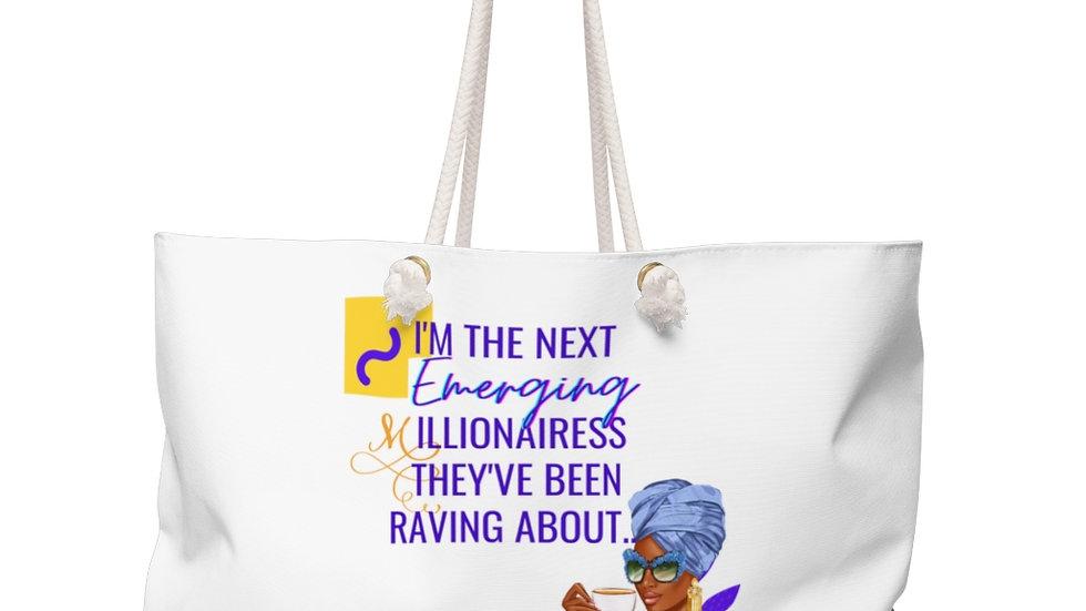 Next Emerging Millionairess Weekender Bag | Boss Babe Tote | Girl Boss Tote