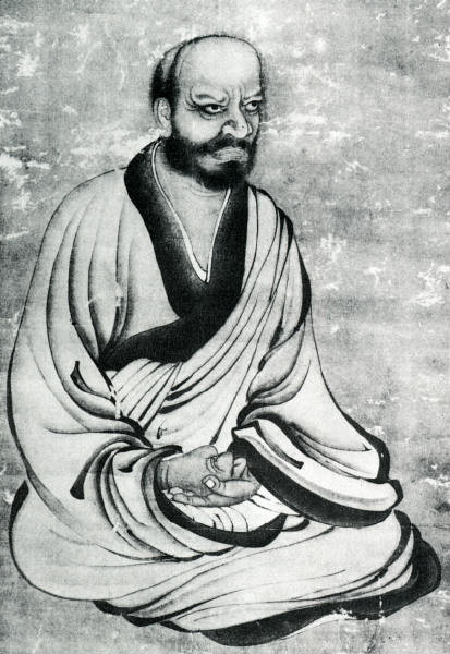 Japanese painting of Linji Yixuan (Jap. Rinzai Gigen).