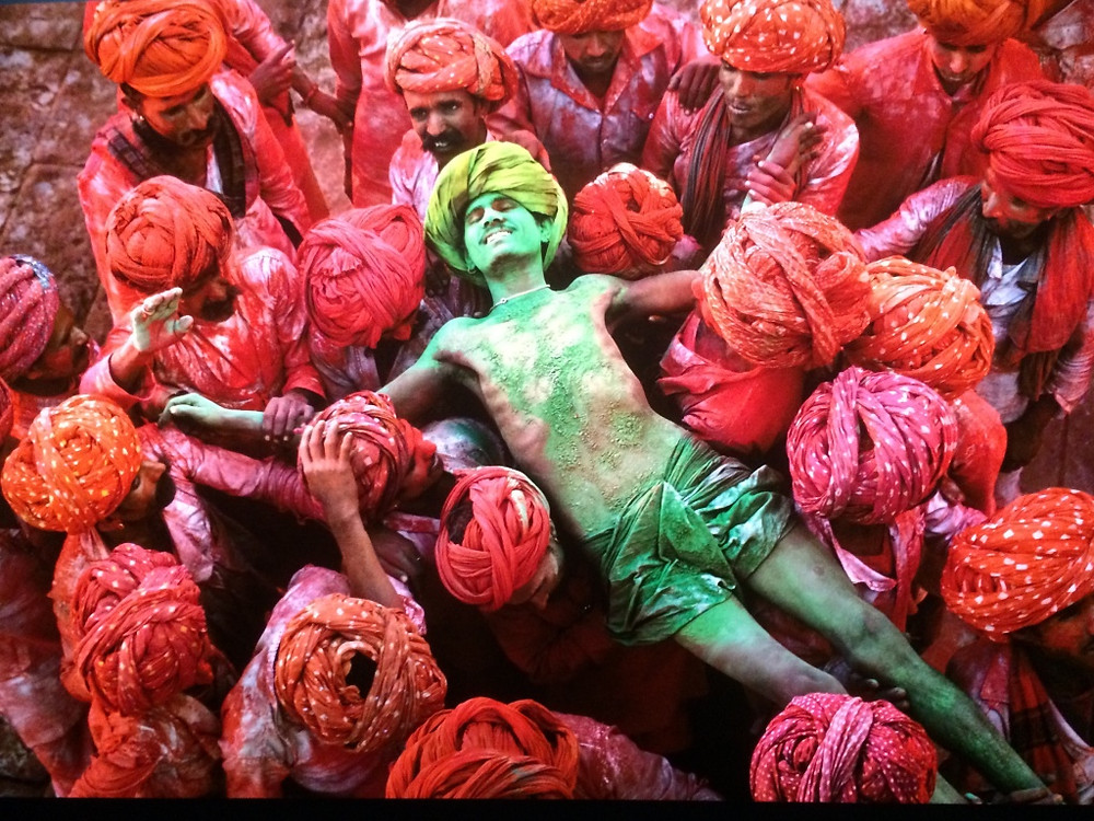 Holi festival (festival of colors), Rajasthan; 1996 -- an image from the book  CREDIT: © Steve McCurry