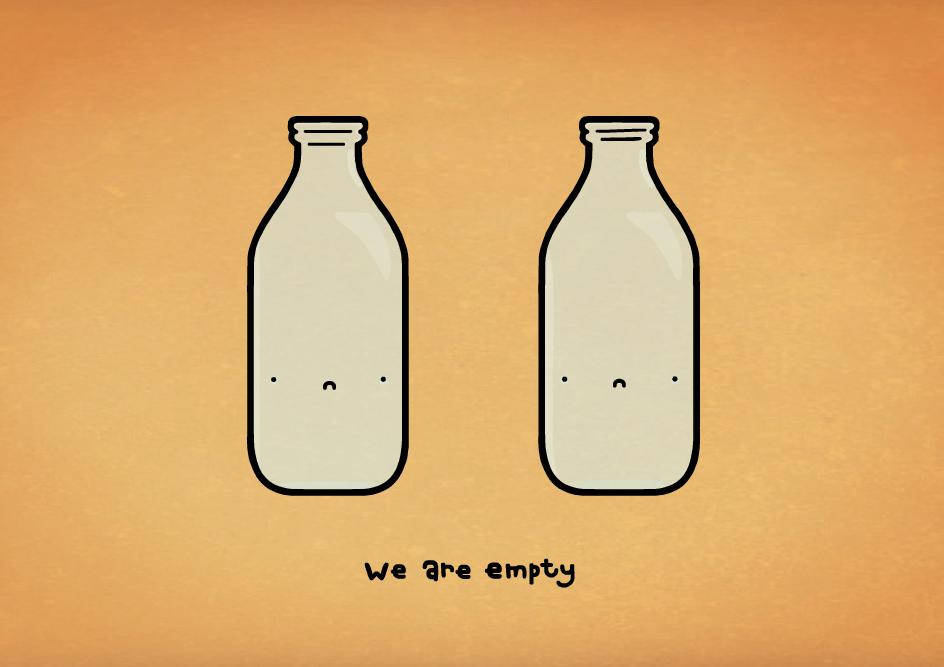we are empty