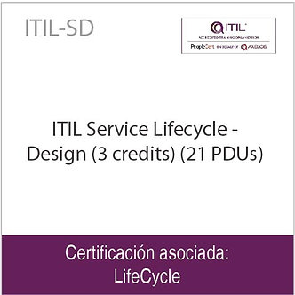 ITIL-SD | ITIL Service Lifecycle - Design (3 credits) (21 PDUs)