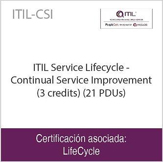 ITIL-CSI | ITIL Service Lifecycle-Continual Service Improvement (21 PDUs)