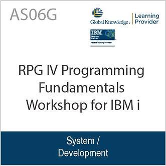 AS06G | RPG IV Programming Fundamentals Workshop for IBM i