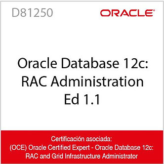 D81250 | Oracle Database 12c: RAC Administration Ed 1.1