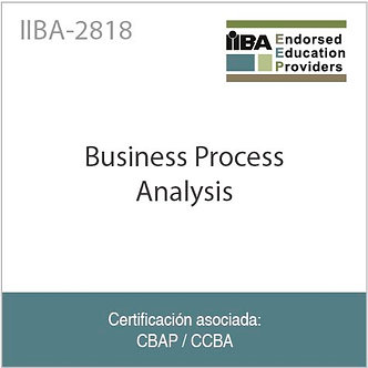 IIBA-2818 | Business Process Analysis (28 PDUs)