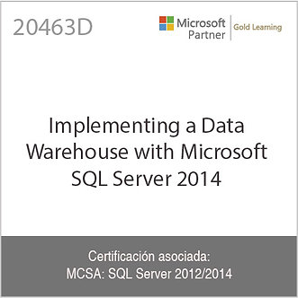 20463D | Implementing a Data Warehouse with Microsoft SQL Server 2014
