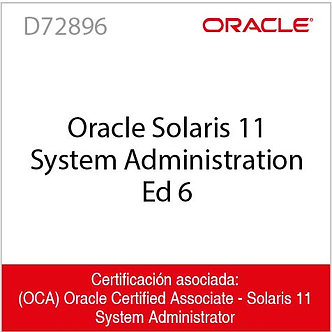 D72896 | Oracle Solaris 11 System Administration Ed 6