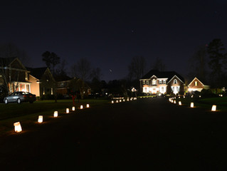 LUMINARIES POSTPONED TO DEC. 25