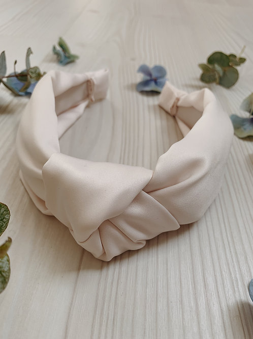 Shell/Pale Pink Knotted Headband