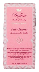 Tablette de Chocolat au Lait Petit Beurre Sel Rose des Andes - Dolfin