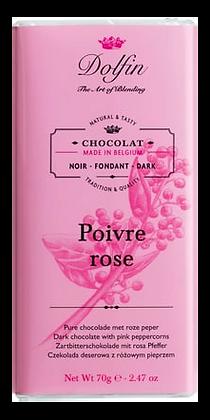 Tablette de Chocolat Noir au Poivre Rose - Dolfin