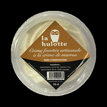 Crème fouettée artisanale à la crème de marron La Hulotte