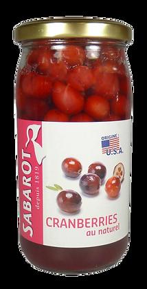 Cranberries au Naturel - Sabarot