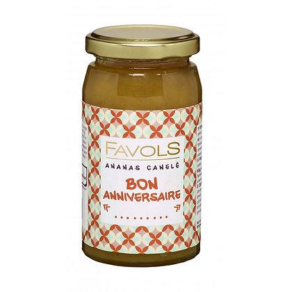 Bon Anniversaire Confiture Ananas Canelé - Favols
