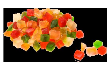 Fruits Cubes Confits - My Dry Food