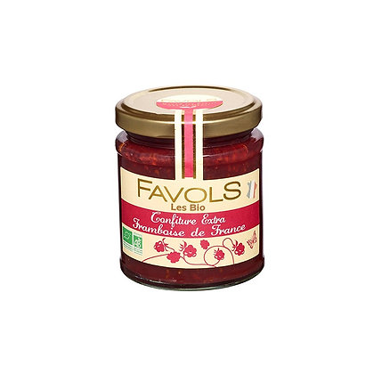 Confiture FRAMBOISE de France Bio - Favols