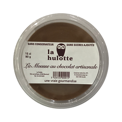 Mousse au chocolat Artisanale «La Hulotte»