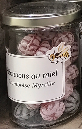 Bonbons au MIEL saveur Framboise-Myrtille