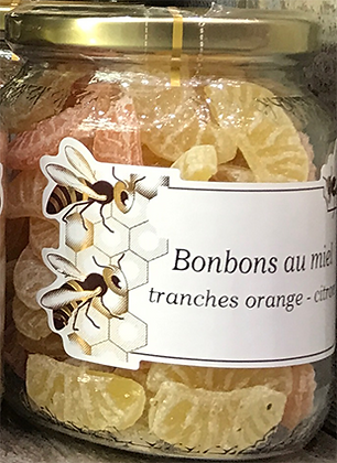 BONBONS au Miel Tranches Orange-Citron