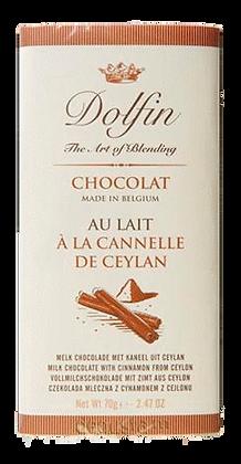 Tablette de Chocolat au lait à la Cannelle de Ceyland - Dolfin