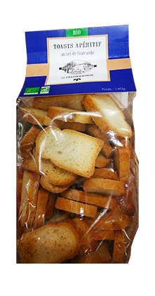 Toast Apéritif BIO au Sel de Guérande - La Chantecroise