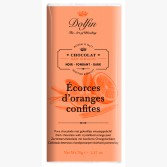 Tablette de Chocolat Noir aux Ecorces d'Orange Confites - Dolfin