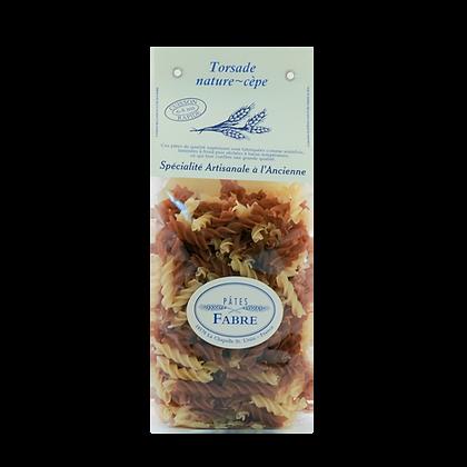 Pâtes Artisanales Maison FABRE - TORSADES Nature Cèpes