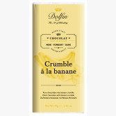 Tablette de Chocolat Noir Crumble à la Banane - Dolfin